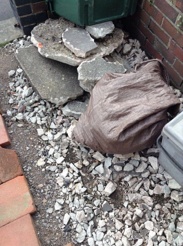 Free to collect hardcore broken concrete rubble
