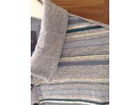 Men's Clothing Grey Stripe Short Sleeve T-Shirt by Rocher J Rocher Size Medium NEW
