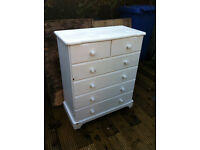 GREAT VINTAGE ORIGINAL STURDY PINE CHEST DRAWERS BEDROOM ANNIE SLOAN STUDENT LANDLORD TENANT LODGER