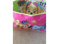 Toy box and toys