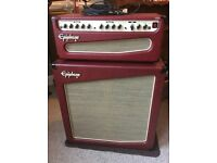 Retro-style Epiphone Triggerman Amplifier Cabinet & Head with DSP