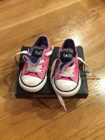 Infant size 5 pink Converse
