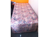 Single bed and mattress by Slumberest with built in drawers