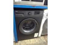Beko anthracite 10 kg washing machine. A+++ energy rated. New/graded. 12 month Gtee