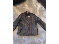 Black George leather look jacket age9-10