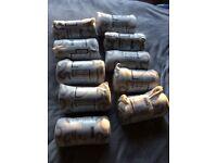 10 x Ikea Krakris fleece blankets