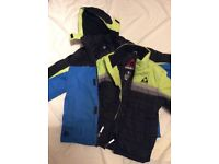 Boys ski jacket with removable inner coat 7-8 years