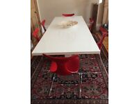 Italian Dining table chairs with dining table(free)