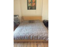 King size IKEA malm bed with IKEA mattress worth 500 , just £135