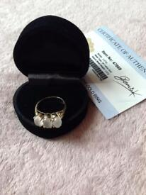 9K Moonstone Cats Eye Gold Ring, bought from Gems T.V