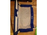 Tomy bedguard, blue and white, excellent condition, as new