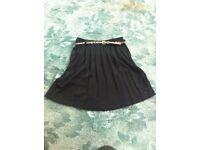 Black skirt with leopard print belt - BNWT size 10