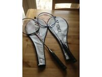 2 badminton rackets in excellent condition