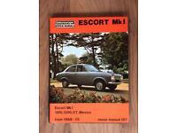Ford Escort Mk1 1968 - 75 intereurope repair manual