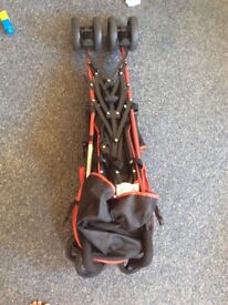 New fisher price from 6 months pushchair—-black & red