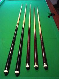 5 Snooker Cues