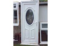 UPVC white door