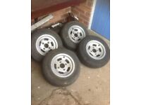 "Classic mini superslot alloys, 5""x10"" set of 4."