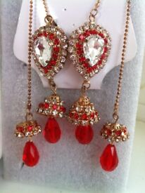Gorgeous red and gold earrings