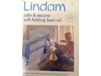 Lindam easy fit bed guard. Portable. Blue