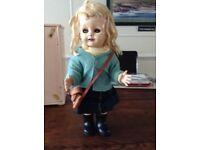 "Vintage (c1950s) Porcelain doll (17"" tall)"