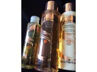 3 bottles of Sanctuary spa bath products (rrp £30)