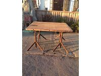Vintage industrial table trestle table Made in Germany