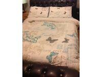Very dark brown king size bed