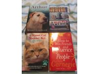 8 Books - 4 biographies and 4 various interests.