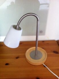 IKEA BENDY LAMP. NEVER BEEN USED REAL BARGAIN SOLID WOOD BASE