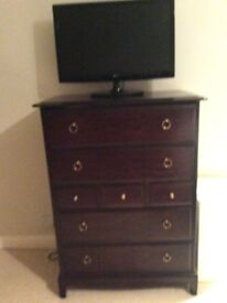 Stag Minstral bedroom chest of drawers tall