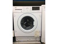 Beko 7kg integrated washing machine 1600 spin new graded 12 mth gtee