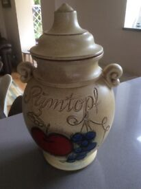 Decorative Rumtopf Jar