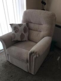 Three seater sofa with matching armchair