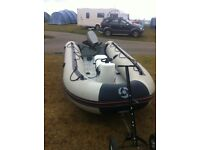 Inflatable Yamaha 430 s with 30 hp mariner 2 stroke engine