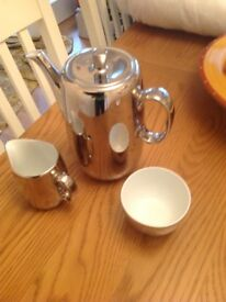 Royal Worcester coffee pot with milk and cream jug