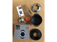 Fondue set Typhoon Stainless steel and enamelled Cast Iron 6 forks