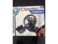 PS2 Racing Wheel and Pedals