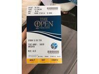 Open Golf Ticket