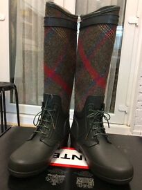 Very rare tweed original hunter boots uk5 £75