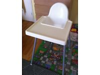Ikea highchair with tray