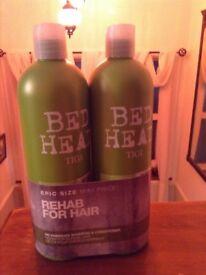 Bed Head by Tigi shampoo and conditioner