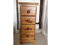 Pair of Pine bedside drawers.