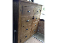 Indigo Furniture - LARGE Rustic Pine cabinet, cupboard, storage, wardrobe, shelf **Delivery**