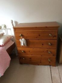 Child's wardrobe and chest of drawers