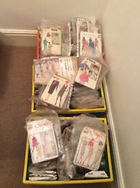 Joblot collection of appx 175 dress patterns, some vintage