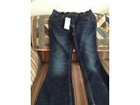 Ladies navy blue boot cut jeans size 14r