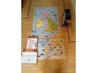 Children's floor puzzle and game