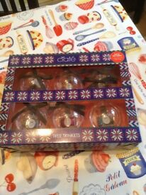 Ciate nail varnishes and christmas baubles