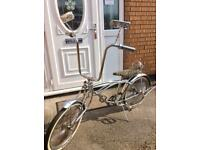 Lowrider chrome bike cruiser bicycle silver all original detailing American lovely